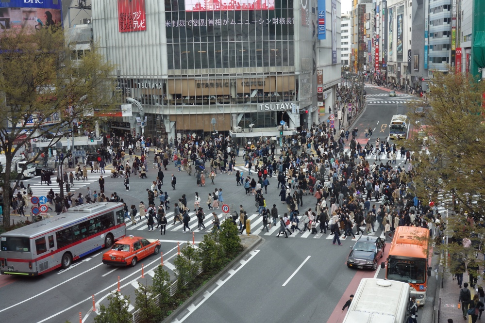 Head to downtown Shibuya - the busiest place...in the world
